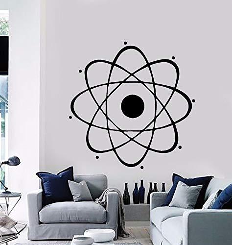 Pegatinas de pared de física de química de ciencia nuclear, aula escolar, habitación de niños, dormitorio, pared, arte decorativo, Mural A2 57x57cm