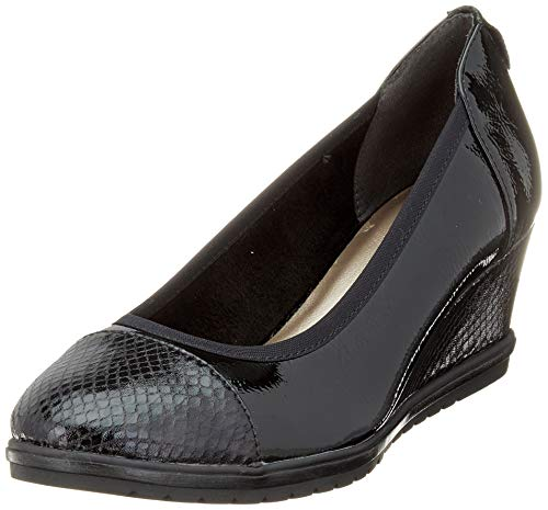 Tamaris Damen 1-1-22472-23 Pumps, Schwarz (Black PATENT 18), 37 EU