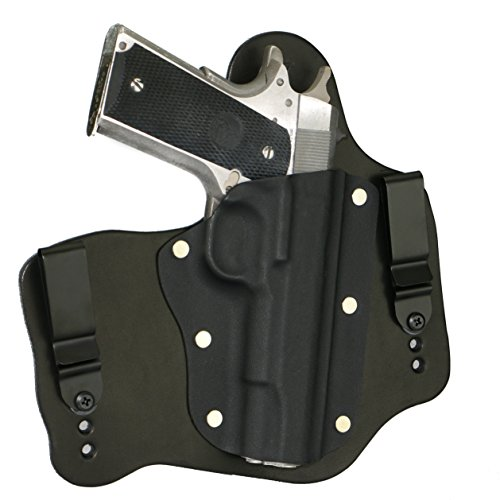 FoxX Holsters Colt 1911 5' Government (No Rail) in The Waistband Hybrid Holster Tuckable, Concealed Carry Gun Holster (Black)