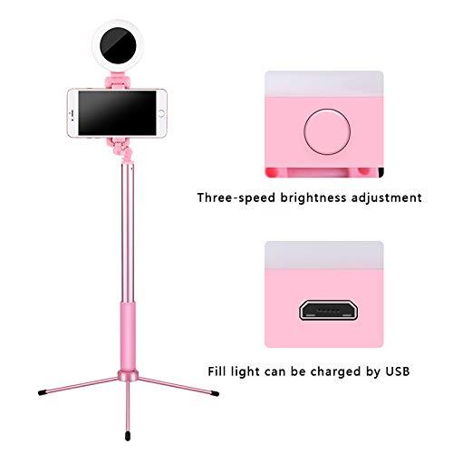 Guarduu Staande 1,7 m met eenpoot-telefoonhouder voor iPhone X 8 Android smartphone 4 in 1 uittrekbare live statief selfie stock-LED-ringlicht