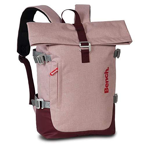 Bench Travel Rucksack für Tablet und Co 42 cm Rosa mit Roll-Top-System 64163-5700
