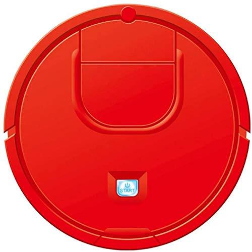 SETSCZY Robot Aspirador Robot Automático Auto Detecta Escaleras Alergias al Cabello de Mascotas Limpieza Robótica del Hogar Amigable para Alfombras Piso de Madera,Rojo