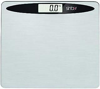 Sinbo SBS-4419 - Báscula de baño (Báscula Personal electrónica, 150 kg, 100 g, kg/LB, Negro, Acero Inoxidable, Vidrio, Acero Inoxidable)