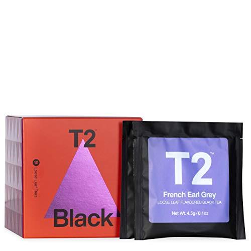 T2 Tea Sips - Black Tea Sampler Gift Pack, 10 Loose Leaf Sachets, 45.5 g