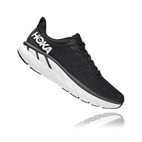 HOKA ONE ONE Men's Clifton 7 Running Shoes Black/White 13 M US