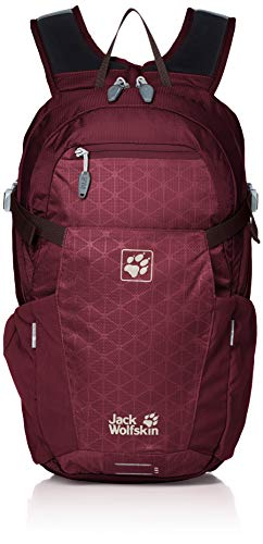 Jack Wolfskin ALLEYCAT 18 Pack Rucksack, Port Wine Grid, ONE Size