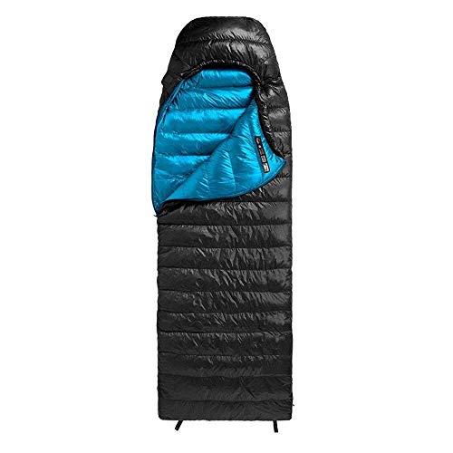 HYISHION Ultraligero para dormir en el clima frío interior y exterior, uso impermeable para adultos para camping, mochileros, 75 x 210 cm, tamaño: mediano, color: azul Skyjie