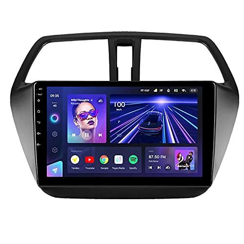 per Suzuki SX4 2 S-Cross 2012-2016 Android 10 Lettore multimediale di navigazione per autoradio GPS 4G RDS DSP Carplay/SWC/Bluetooth vivavoce/collegamento specchio/fotocamera di backup, 8core 4G+WIFI