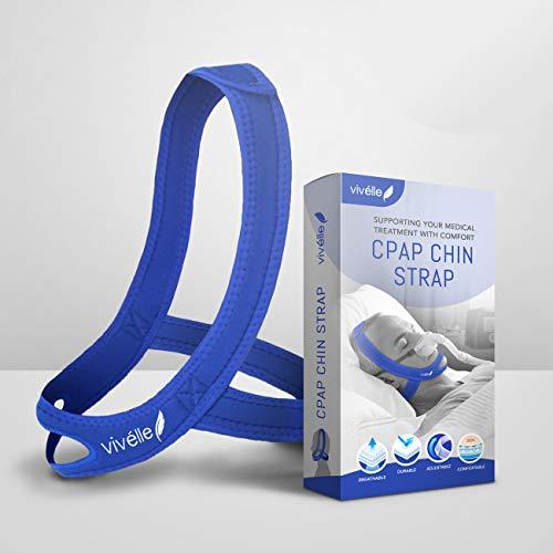 powerful CPAP Chin Strap – Vivélle for Men and Women, Slim, Non-Slip, Adjustable, Premium Snoring…