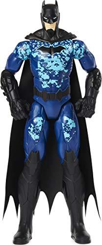 BATMAN 6060343 12-inch Bat-Tech Tactical Action Figure (Blue Suit), for Kids Aged 3 and up Actionfigur, 30,5 cm, Blau