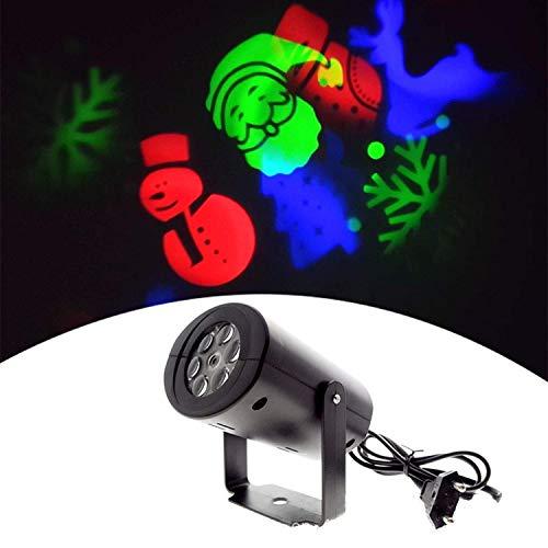 SCJ Proyector de luz, luz de proyección de patrón LED GRB Linterna de Escenario giratoria Colorida, Control Remoto Modo de Trabajo múltiple Fiesta Familiar Decoración de Barra de jardín