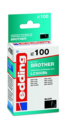 edding 18-100 Druckerpatrone EDD-100, Ersetzt: Brother LC900Bk, Einzelpatrone, schwarz