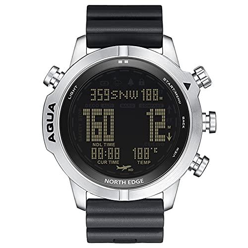 Lixada Reloj Deportivo Digital Analógico para Hombre, Reloj Inteligente Reloj de Buceo, Reloj Comercial de Acero, Altímetro, Brújula, 200 Metros Resistente al Agua