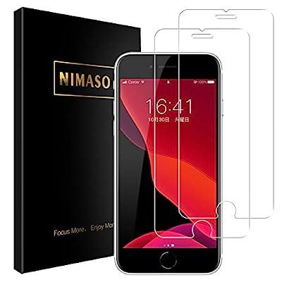 【2枚セット】Nimaso iPhone SE 第2世代 (2020) 用 強化ガラス液晶保護フィルム 貼り付け簡単/硬度9H/高透過率/気泡ゼロ