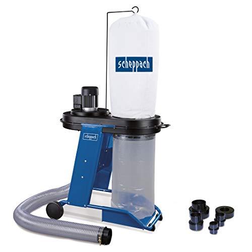 Scheppach Absauganlage HD12 (550 W, Luftleistung 1150m³/h, Füllmenge 75 L, Schlauch- Ø/-länge 100mm/2300mm, Fahrvorrichtung) inkl. Adapterset