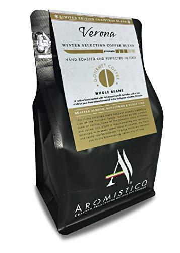 Aromistico | Italian Medium Roast Whole Bean Gourmet Coffee Blend | VERONA Gold Blend: ROASTED ALMOND, HONEYCOMB and FUDGE-LIKE | Suitable for all coffee makers
