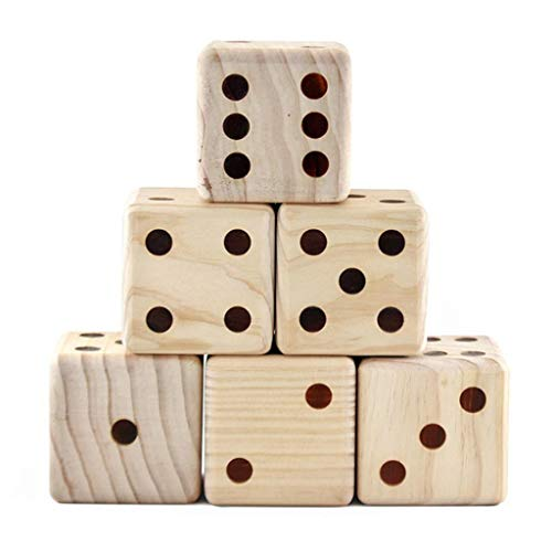 Kekailu Giant Wooden Dice,Indoor Outdoor Large Wooden Yard Lawn Dice Classic Toy for Adult Kid Family Play