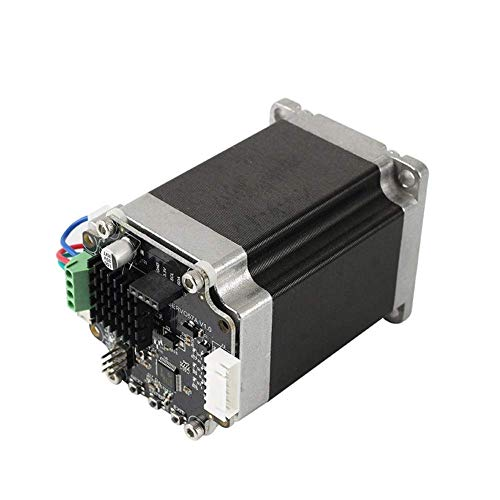 YHtech Computer Accessories, Closed Loop Stepper Motor Set MKS SERVO57A Servo Motor with Adapter Plate + OLED12864 Display for 3D Printer (Size : B) Printer Accessories