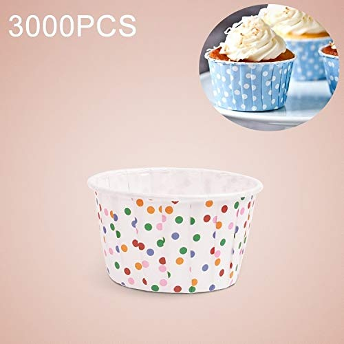 Review Of 3000PCS Colorful Dots Pattern Round Lamination Cake Cup Muffin Cases Chocolate Cupcake Lin...