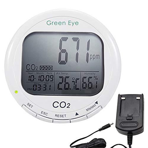 Digitales 3-in-1-Luftqualitätsmessgerät CO2-Messgerät/Thermometer/Feuchtigkeitsmessgerät 9999ppm Logger Luftqualität (IAQ) ABC CO2 Automatische Hintergrundkalibrierung (ABC)