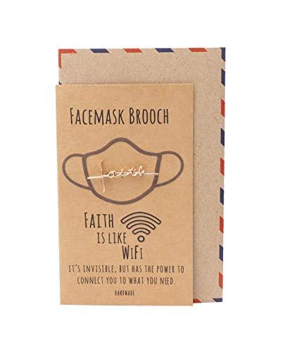 quan jewelry WiFi Faith チャーム 宗教ジュエリー インスピレーションジュエリー グリーティングカード付き, ピューター,