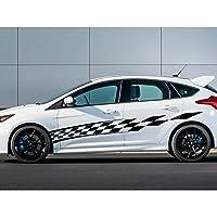 車のステッカー サイドスカート デコレーション, A4 A3用、アキュラ用、アルファロメオ用、キャデラック用、BMW用、車のドア側ビニールデカールステッカー
