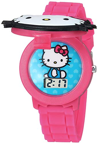 Hello Kitty Girls' Quartz Watch with Plastic Strap, Pink, 16.3 (Model: HK4014AZ)