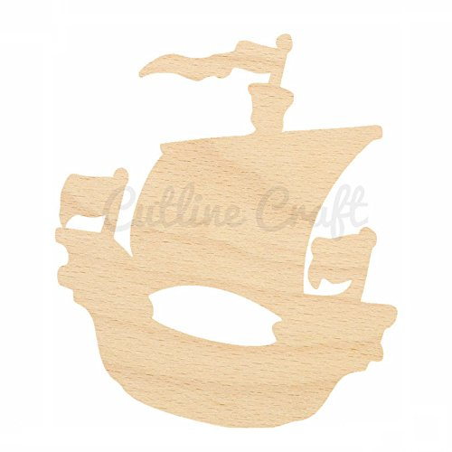 wooden ships for Columbus day crafts