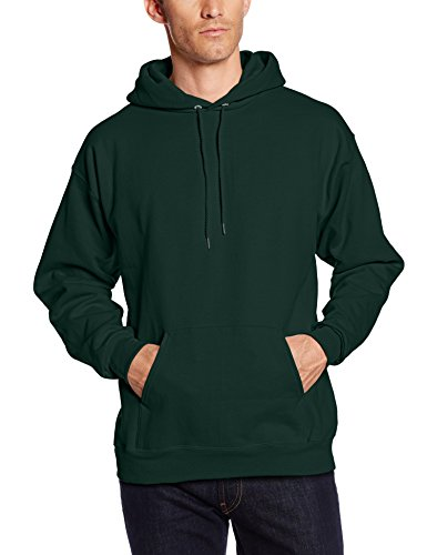 Hanes Men's Pullover Ultimate Heavyweight Fleece Hoodie, Deep Forest, X-Large