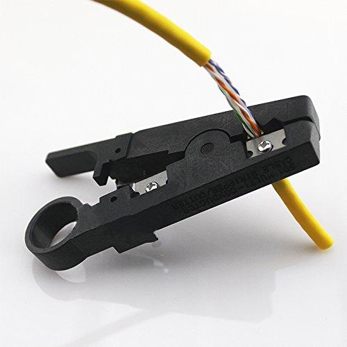 1 PC portable couteau à dénuder Pince à sertir Pince à sertir Outil câble de décapage Coupe-câble Poche Multi outils Noir