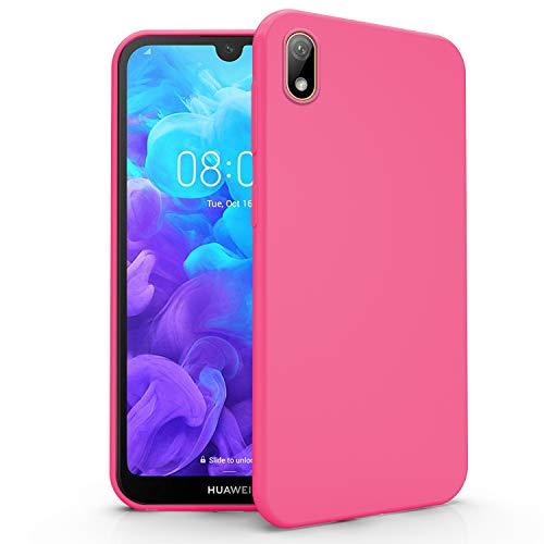 N NEWTOP Cover Compatibile per Huawei Y5 2019, Custodia TPU Soft Gel Silicone Ultra Slim Sottile Flessibile Case Posteriore Protettiva (Fucsia)