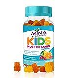 Mina Vitamins Kids Formula Halal Multivitamin Gummies: Vitamin A, C, D, E, B6, B12 - Great Tasting Natural Fruit Flavors - Made in USA , Halal Vitamins (90 Count)