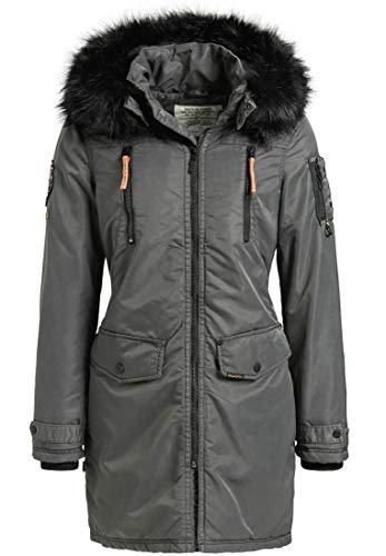 khujo Zafira Damen Winterjacke Parka Jacke Agata Coat (M)