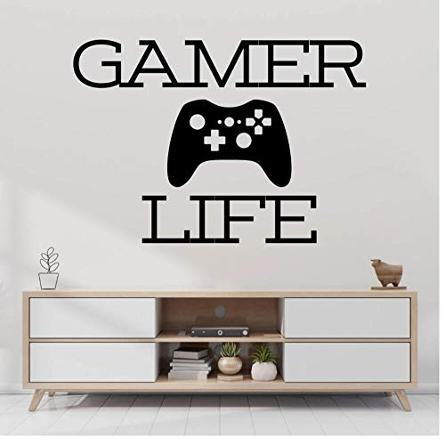 Controller Gamer LifeWall Aufkleber Aufkleber Spiel Aufkleber Gamer Home Playroom Wandkunst Dekoration 57x44cm