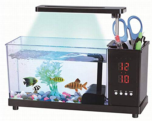 USB desktop mini-aquarium LED bureaulamp penhouder kleine decoratieve ecologisch aquarium Nimm Dir Tijdwekker