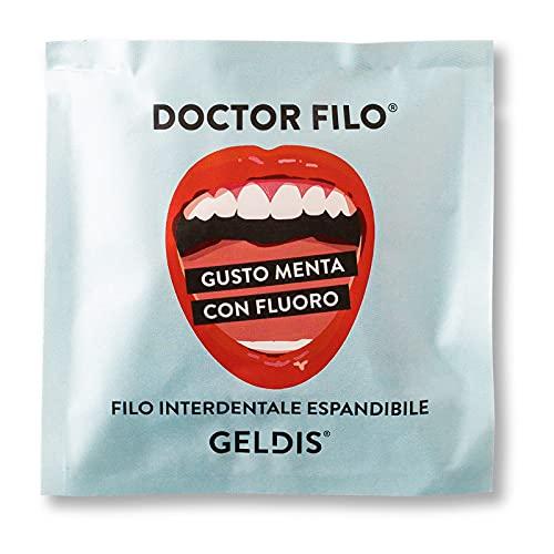 Geldis® Filo Interdentale Doctor Filo® Cerato aromatizzato Menta, con Fluoro, Delicato su Gengive Sensibili, 100% Vegetale, 30 mt