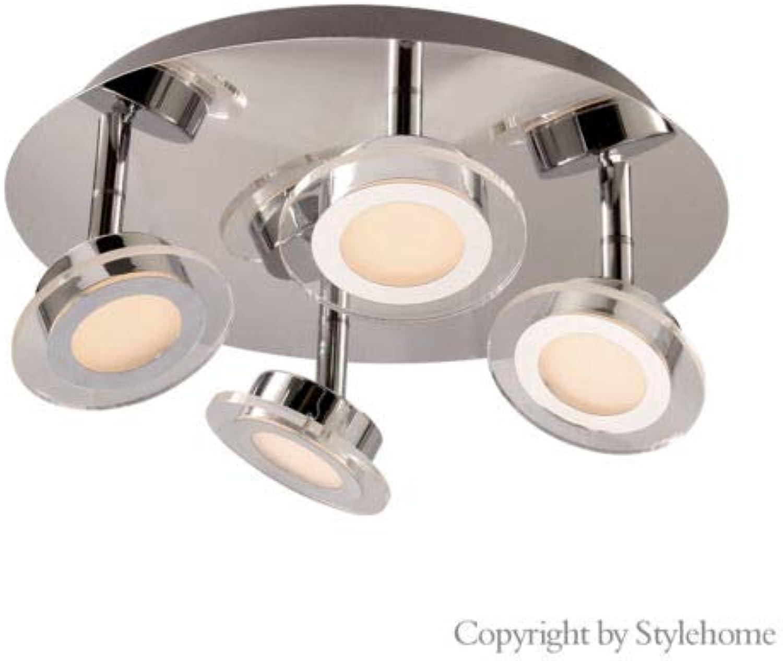 NTS LED Deckenlampe Deckenleuchte Spots Wandlampe Spot Strahler 3029-4R 3000K (A++)
