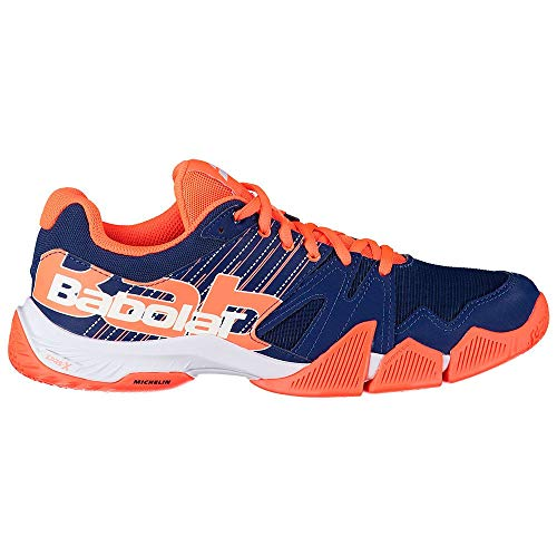 BABOLAT PULSA Men, Zapatillas de Tenis Hombre, Estate Blue/Fluo Strike, 46 EU
