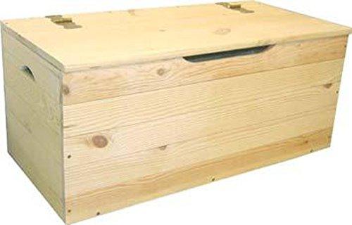 ferramenta-utensili Cassapanca Baule Legno di Pino Giardino Esterno cm 73x35x33 h