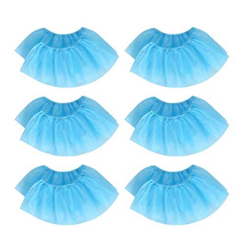 Beaupretty 100 Piezas de Zapatos de Tela No Tejida Cubren El Zapato Desechable a Prueba de Polvo Antideslizante Zapato Protector Banda Elástica Zapatos Transpirables Cubierta (Azul Cielo)