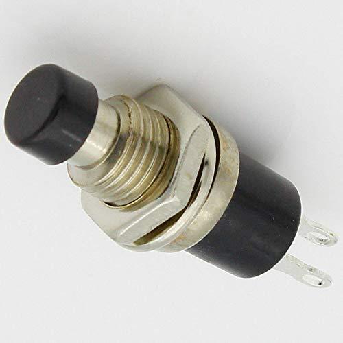 Interruptor de botón Supertool con 15 pulsadores momentáneos en miniatura para interruptor de botón de encendido, interruptor LED, negro