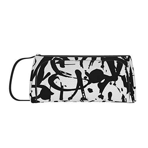Pencil Case,Large Capacity Pencil Cases,Pen Case,Pencil Bag Pouch Abstract Tags Multi Compartments for Boys and Girls