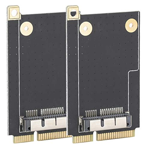 Tarjeta adaptadora de 2 Piezas con 6 Tornillos para OS X a Mini PCI-E Tarjeta elevadora PC Adaptador WiFi PCI-E Compatible con el Sistema OS X portátil PCI-E