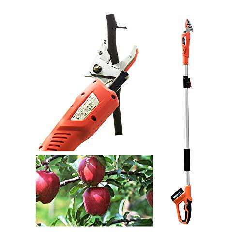 Shuifeng Podadora de árboles telescópica Recolector de Frutas eléctrico/Manual 4.27-7.22 pies Recogedor...