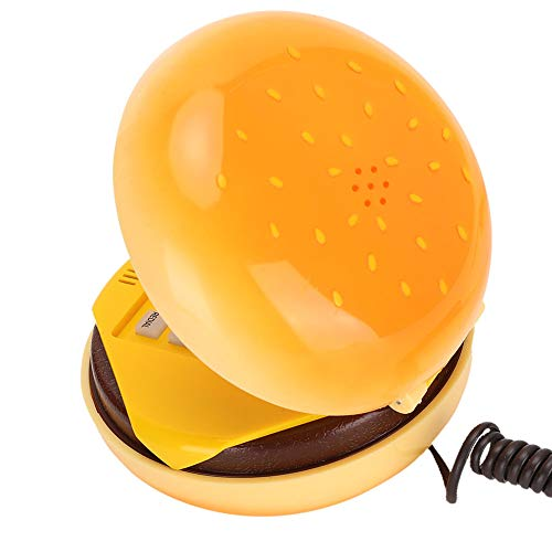Hamburger Phone, Cheeseburger Burger Hamburger Phone Cute Telephones Landline Corded Phone Desktop Phone for Home Hotel Office Decoration Kids Gift