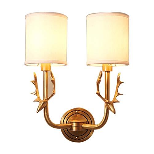 Moderne Wandlamp, LED Wandlamp Gewei Vorm Van Hoge Kwaliteit Zuiver Koper Materiaal-Geschikt Voor Een Woonkamer/Entree/Slaapkamer,Double head