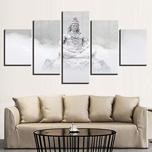 Libihua muurdecoratie Artist Residence afbeelding 5 foto's meditatie stoelen afdrukken bamboe bos landschap schilderkunst modulair Frame