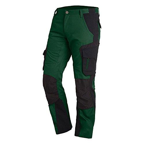 FHB Arbeitshose Florian - 1 Stück, 52, grün/schwarz, 35-125100-2520-52
