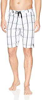 Hurley Men's Supersuede Printed 21 inch Boardshort Swim Short White 40 [並行輸入品]
