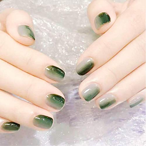 CLOAAE 24 boxes/box with 2g simple style gradient gray false nails pressed on French cute short size false nails.